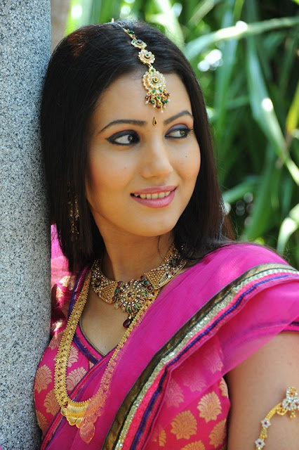 Anu Smriti Gorgeous Stills in Pink Bridal Saree and Makeup, Telugu Actress Stills