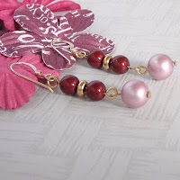 Bright Red Earrings by MagsBeadsCreation