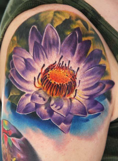 Flower Tattoo Men