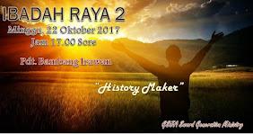 Ibadah Raya 2, Minggu 22 Oktober 2017 Jam 17.00
