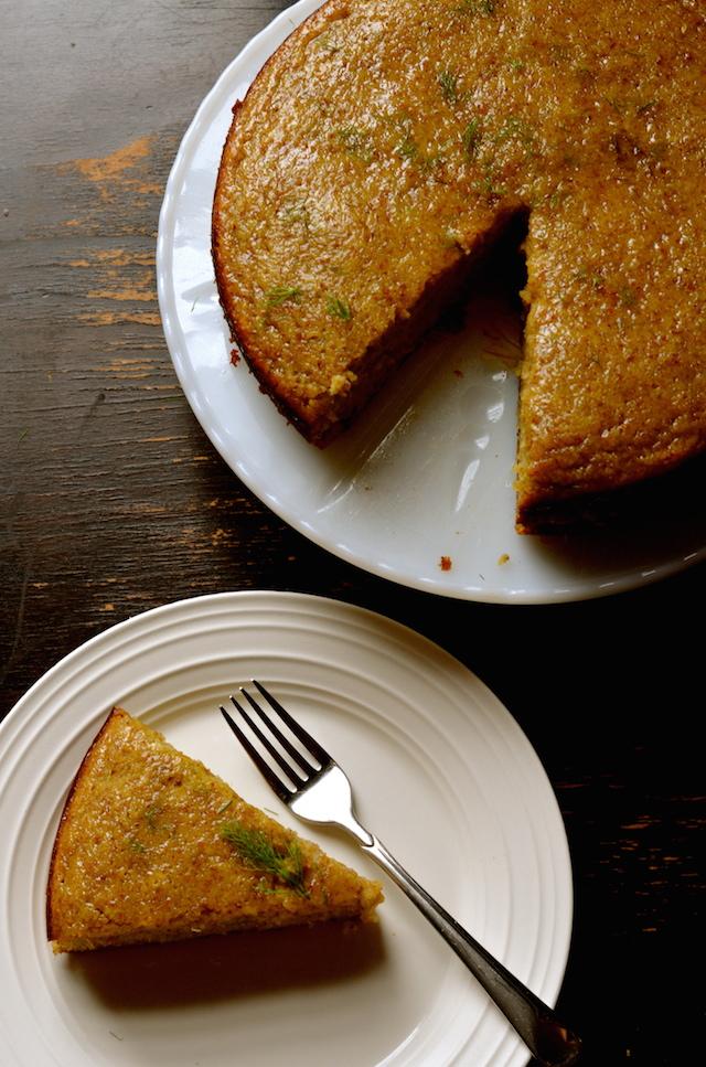 Flourless Fennel Almond Cake (Gluten-Free)