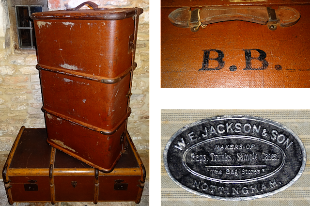 #britishtrunks #antiques #WE Jackson Sons #antiqueluggage