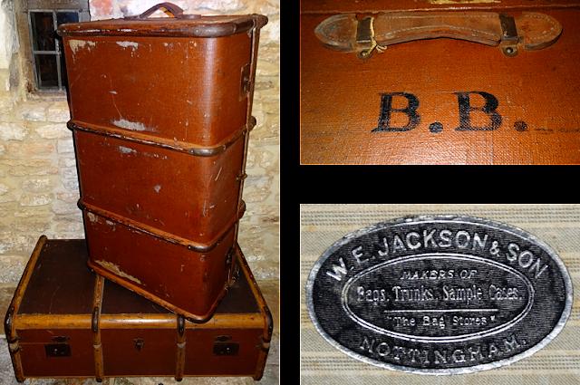 #britishtrunks #antiques #WE Jackson Sons #antiqueluggage