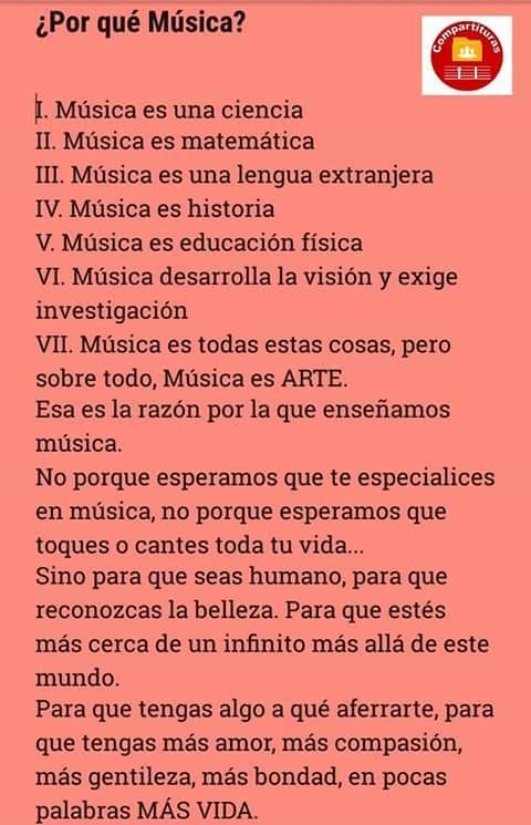 ¿Por qué Música?