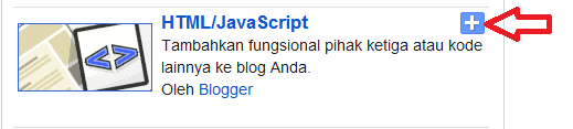 widget HTML blogger