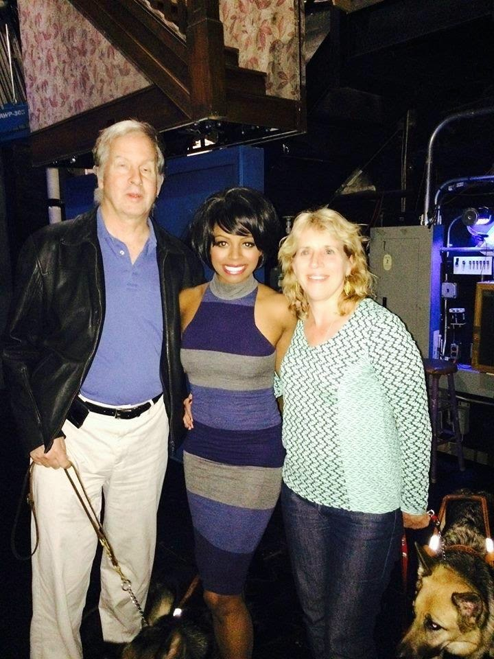 Mike and Gena with Krystal Joy Brown, Motown actress