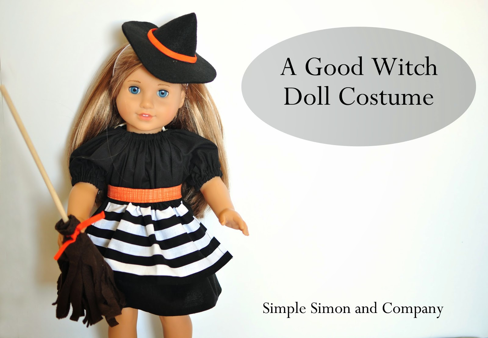 American Girl Doll Witch Costume Tutorial - Eat Pray Create