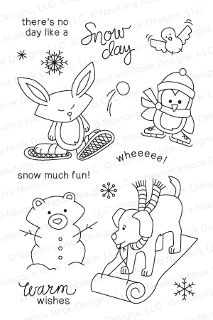 Snow Day Stamp Set from Newton's Nook Designs