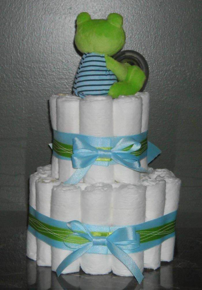 diaper cakes atlanta froggy 2 tier diaper cake