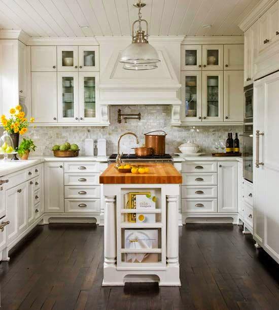 Las 19 islas de cocina vintage que te encantar a tener en - Islas de cocina moviles ...
