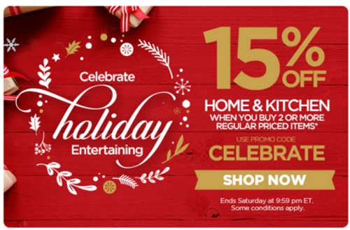 The Shopping Channel 15% Off Home & Kitchen When You Buy 2 Regular Priced Items Promo Code