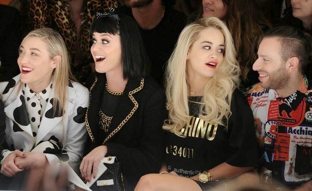 Mia Moretti, Katy Perry, Rita Ora, Saul Milton, Moschino Fashion Show, Moschino Fall Winter, fashion show
