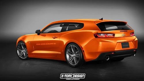 Designer cria versões sedã e perua do Chevrolet Camaro 2016