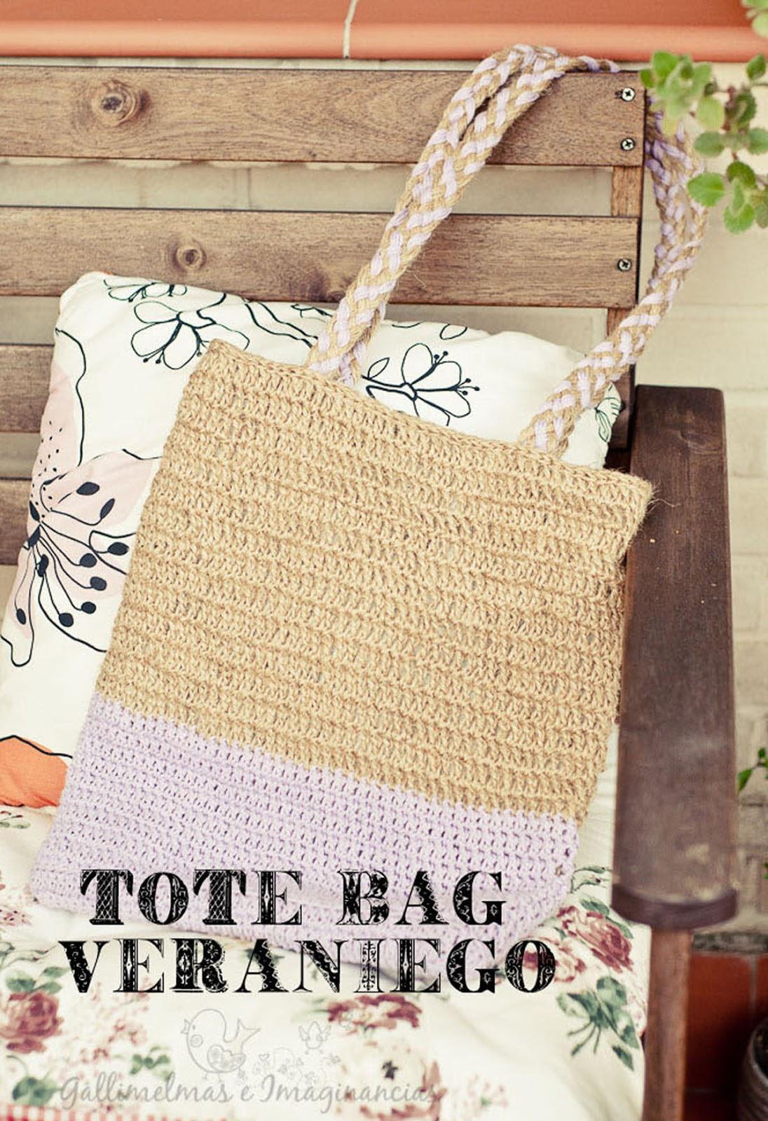 Free Patterns: Tote Bag Veraniego de Ganchillo | Gallimelmas e ...