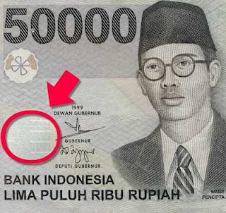 Hal Unik Gambar Tersembunyi di Uang Pecahan 50ribu Rupiah