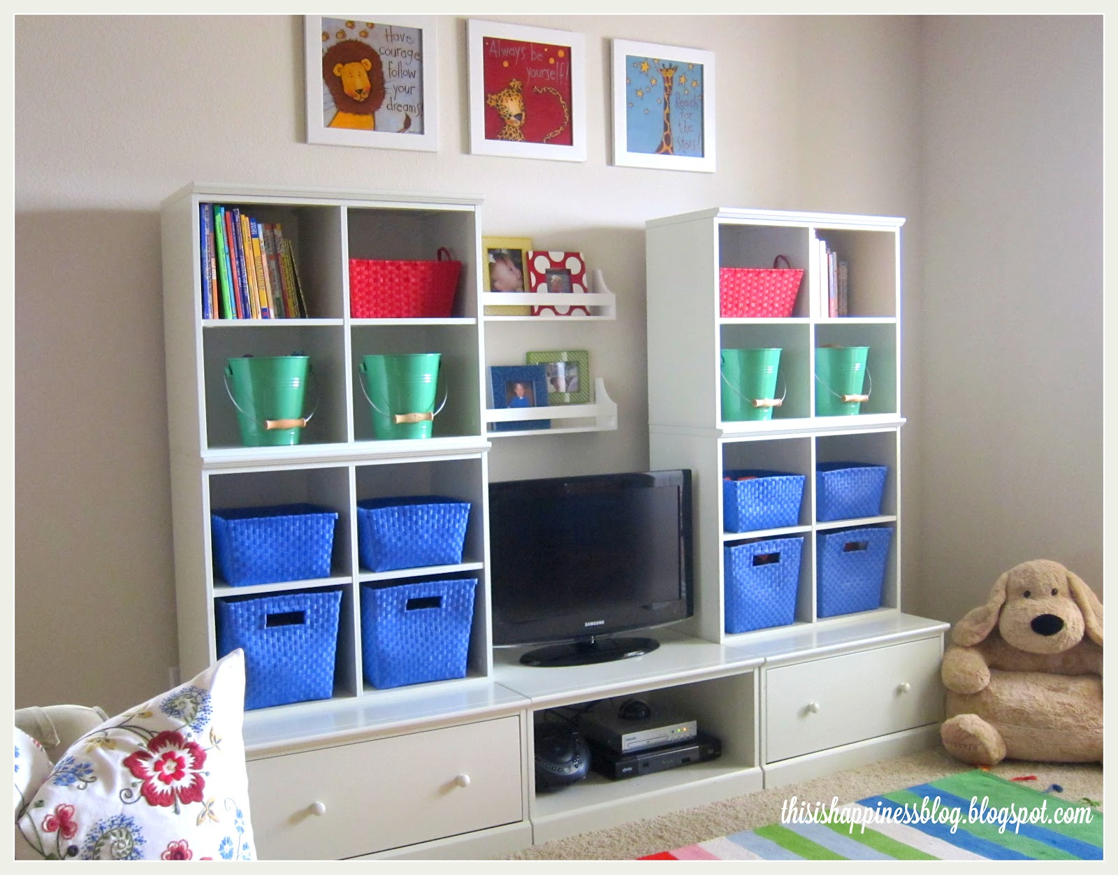 this is happiness bright cheerful organized playroom