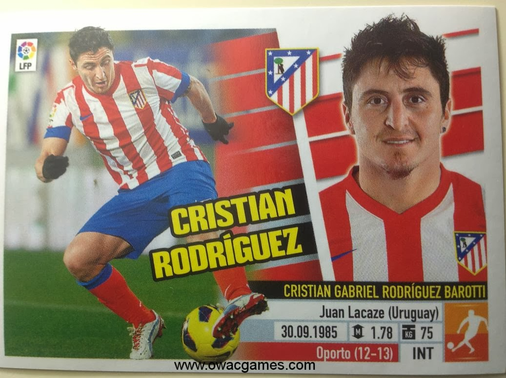 Liga ESTE 2013-14 Atl. de Madrid - 14 Cristian Rodríguez