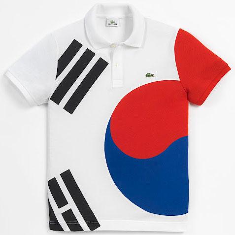 camiseta polo bandera de Corea del Sur