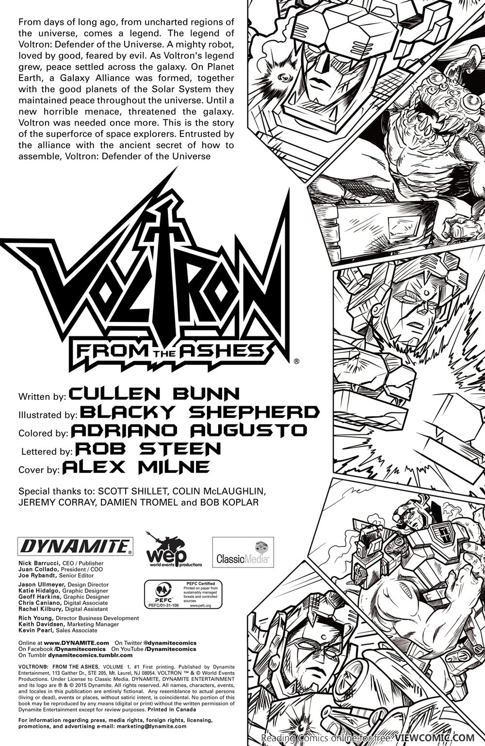 voltron u2013 from the ashes 001 2015 u2026 u2026 u2026 viewcomic reading comics