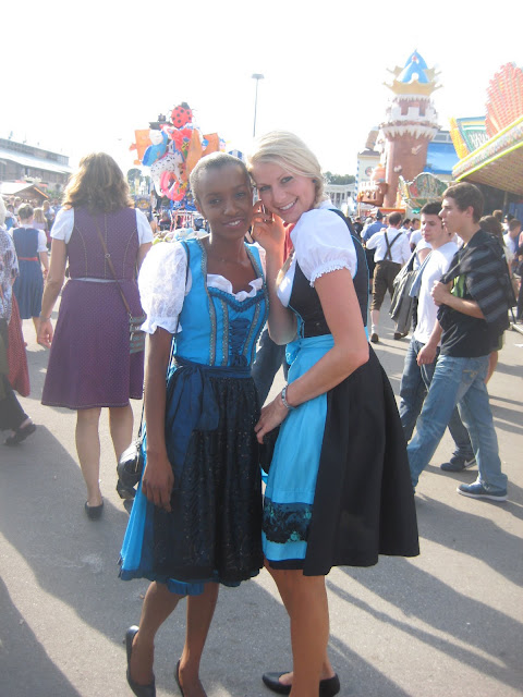 black girl in dirndl bavaria