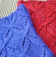 Nightshade Cowl by Gabriella Henry. A winter weight cowl with a pretty all over cable and eyelet pattern.
