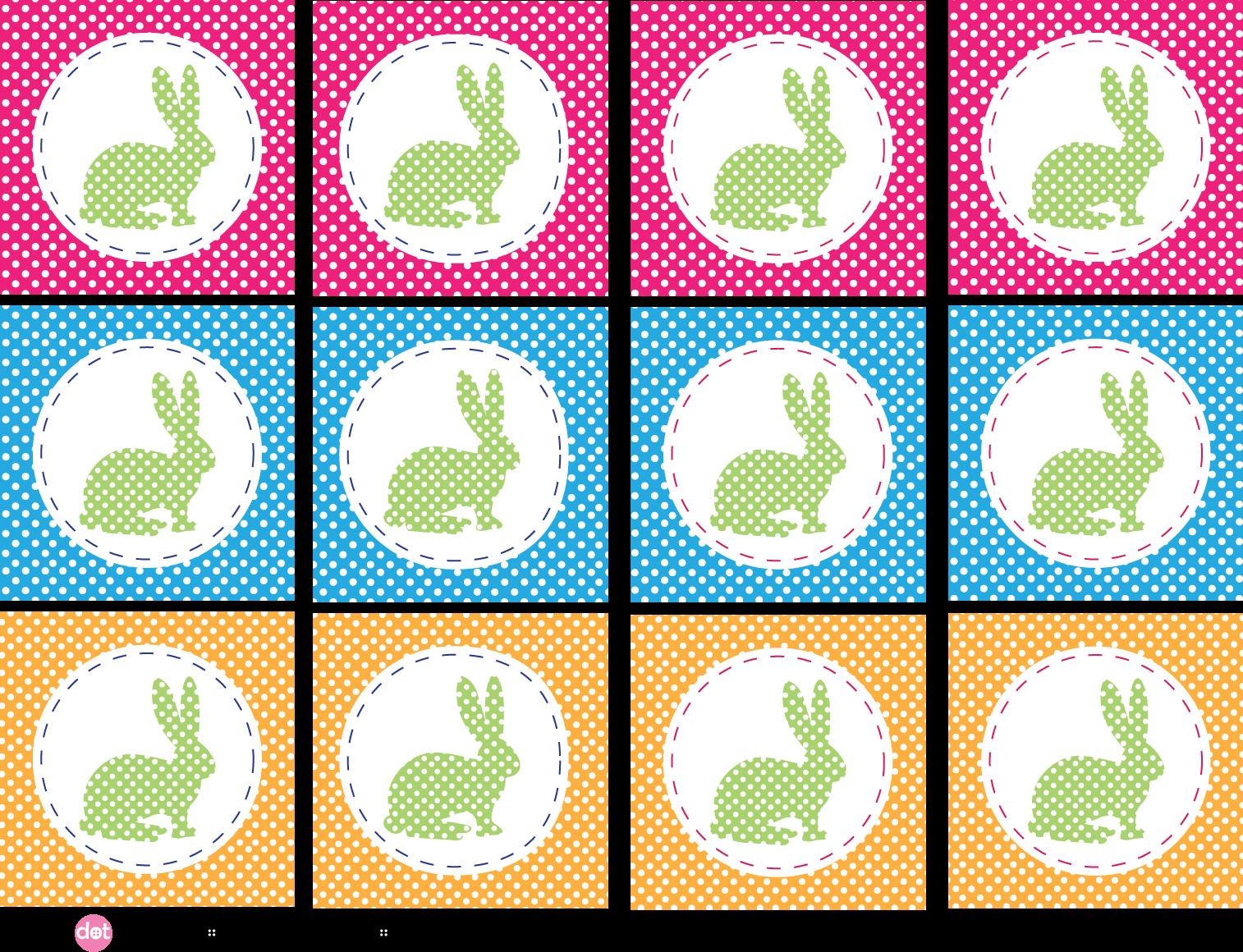 Easter Bunny Tags – Free Printable | Pinkadot Shop
