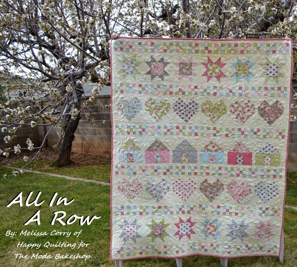 Happy Quilting All In A Row Quilt A Mbs Tutorial