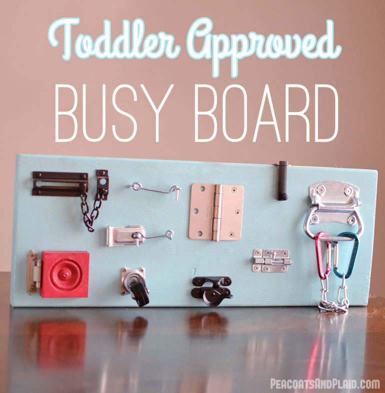 Toddler Busy Latch Board TUTORIAL | Bre Pea | The ...