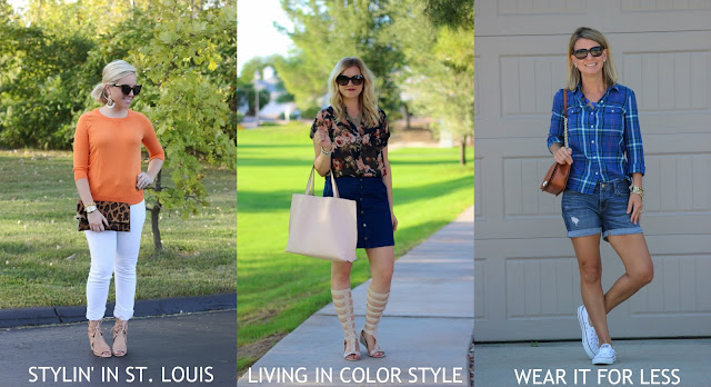 Statement jewelry outfits from fashion bloggers in pants, skirt, and casual look