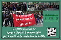 Unisono Gijón solicita la readmisión de una compañera