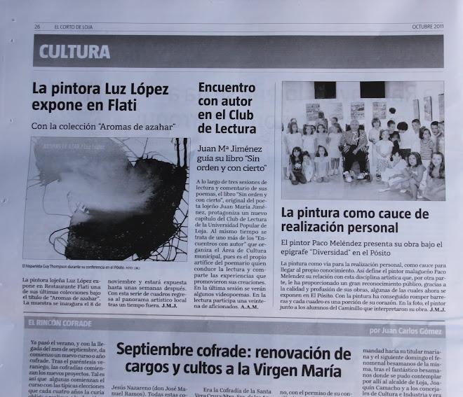 """"""" ARTICULO EN EL CORTO DE LOJA"""""""