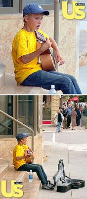 Foto Justin Bieber Ngamen di Pinggir Jalan Saat Usia 13 Tahun