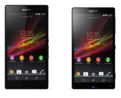 Sony Xperia ZL and Xperia Z