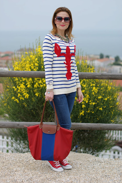 Asos lobster sweater, Longchamp bag, Fashion and Cookies