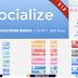 120 أيقونة مواقع التواصل الإجتماعي socialize social button kit