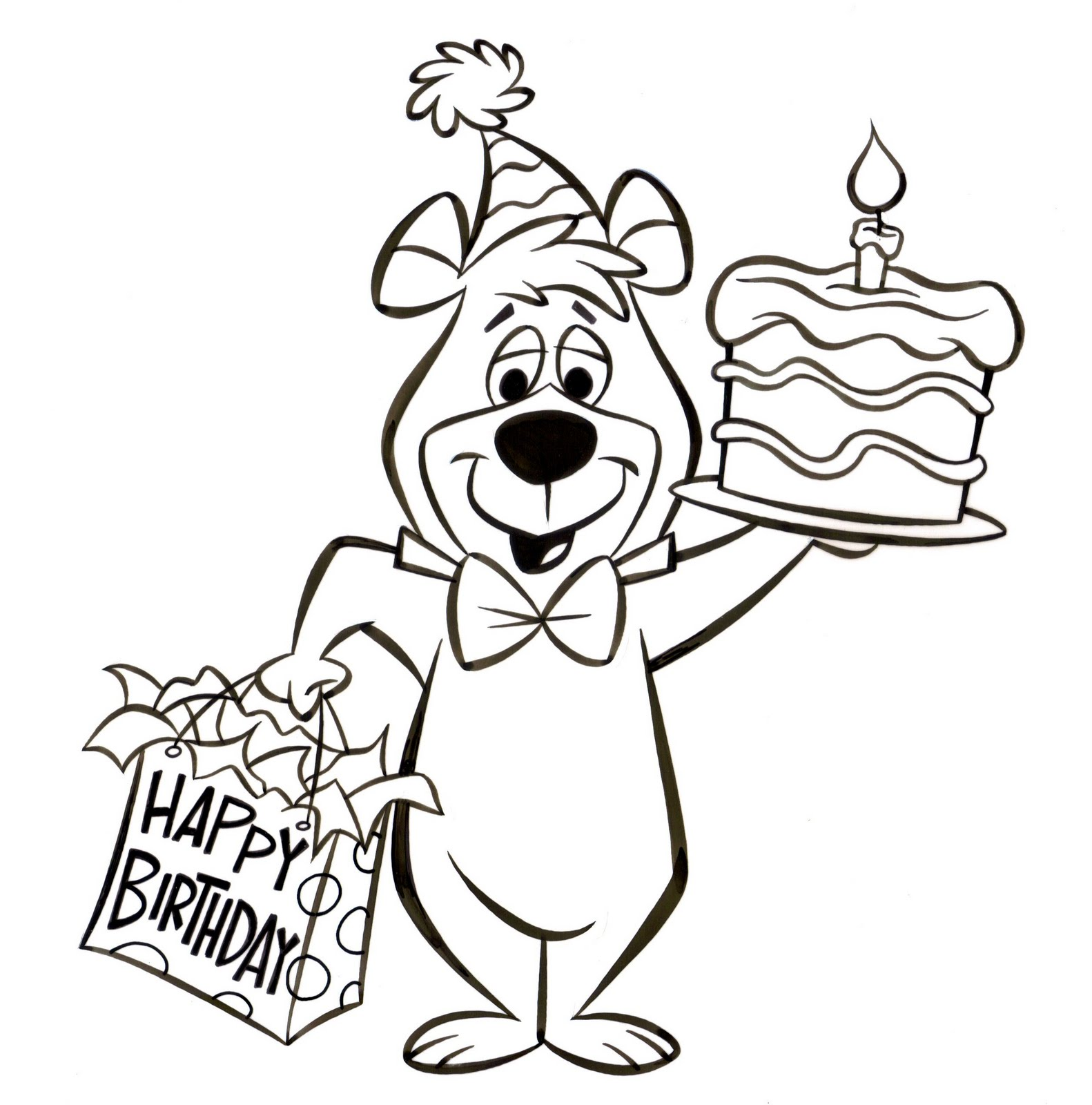 Patrick Owsley Cartoon Art and More YOGI BEAR BIRTHDAY ART