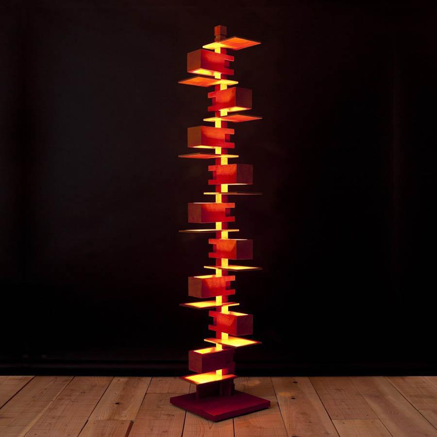 Frank lloyd wright39s modernist taliesin floor lamp for Taliesin 2 floor lamp