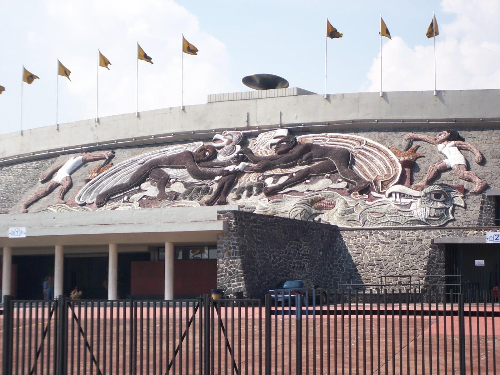 Est dios e arenas belas obras de fachada for Puerta 9 estadio universitario