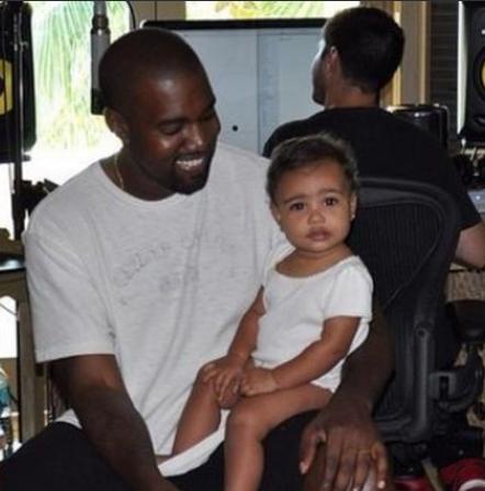 Kanye West  amp Kim Kardashian North West August 2014