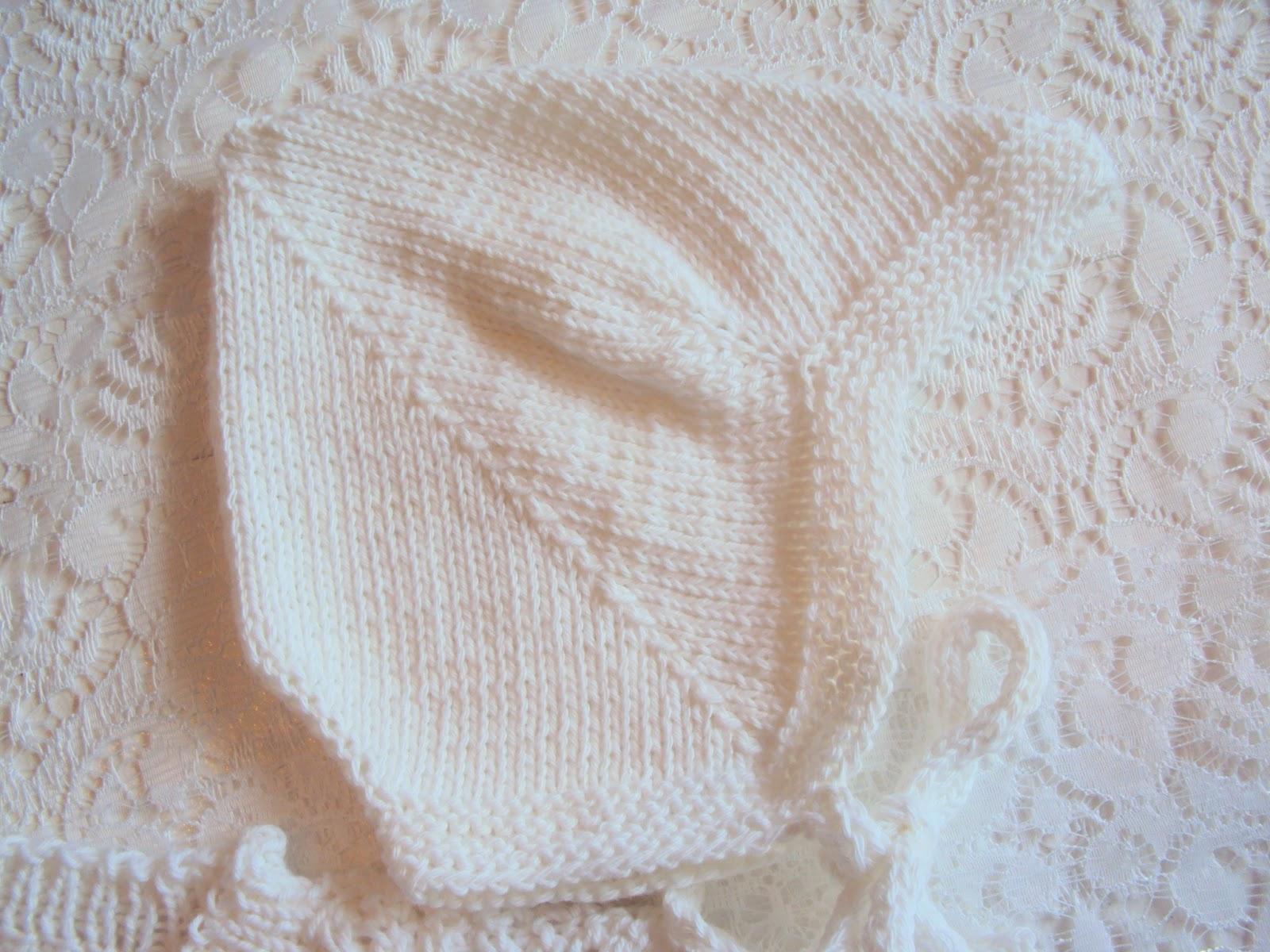 strikket babysæt opskrift