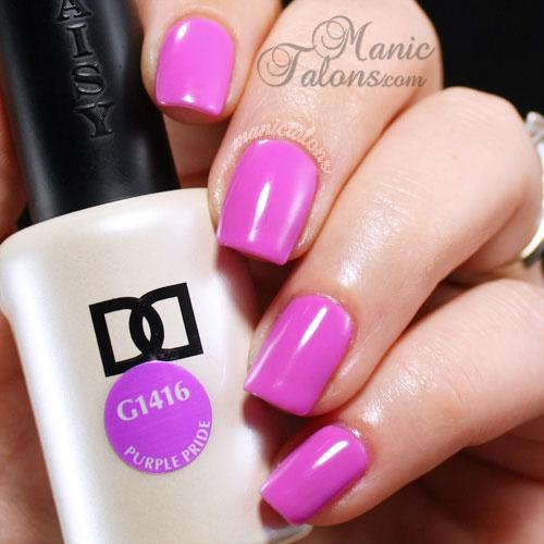 Daisy Duo Purple Pride Swatch, gel polish, soak off gel