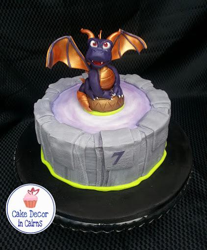 Spyro Fondant Topper Skylander Portal Cake