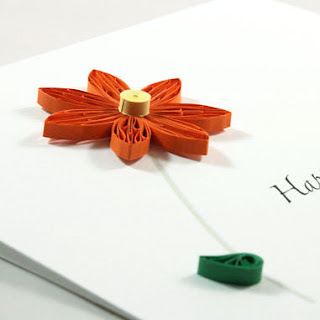 quilling flower greeting card