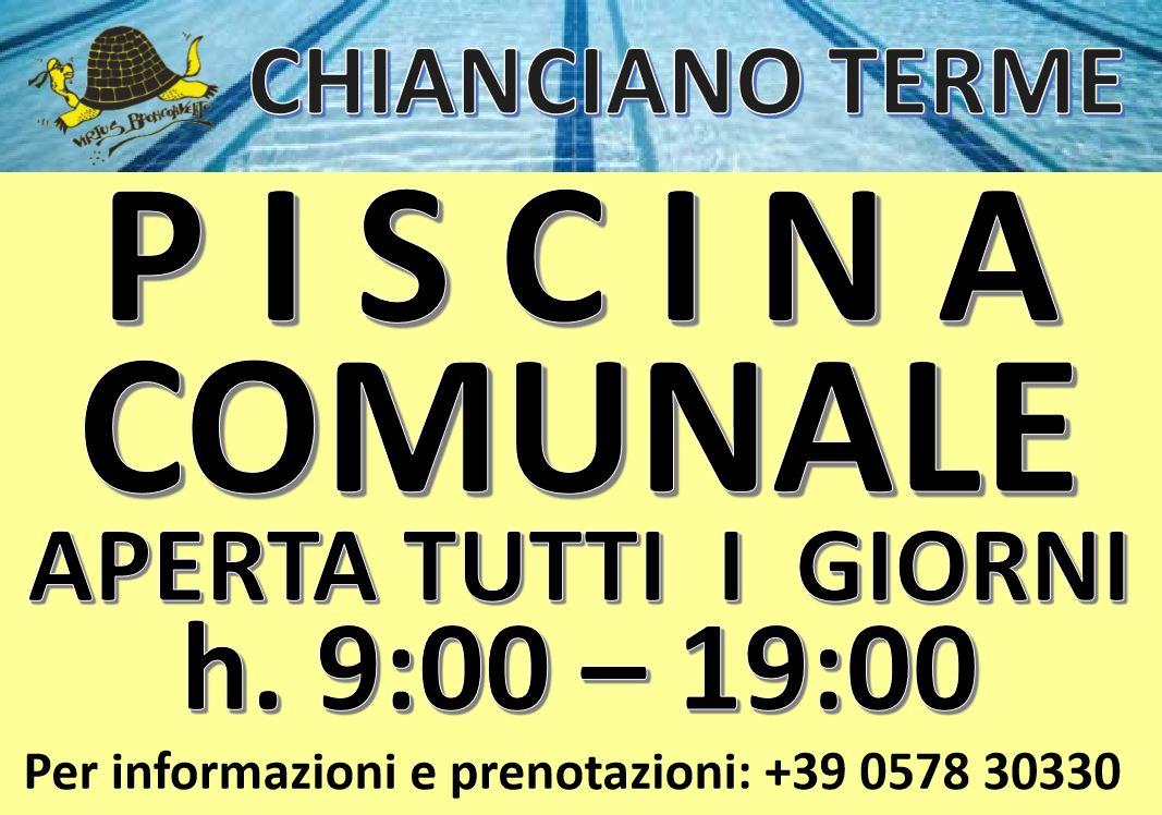 Piscina di Chianciano aperta tutti i giorni dal 17 Giugno!