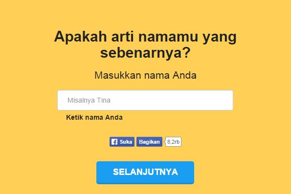 NameTest Aplikasi Cek Arti Nama Paling Populer di Facebook » DUNIA ...