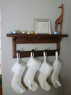 burlap and fur stockings