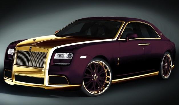 سيارة رولز رويس الشبح الذهبي