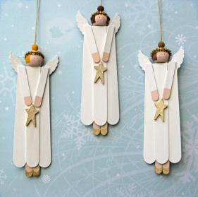 Anjos De Natal   Palitos De Sorvete