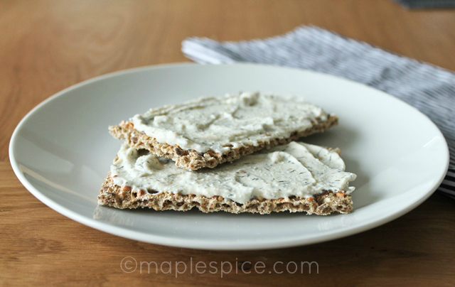 Vegan Dilled Yogurt Cream Cheese Spread