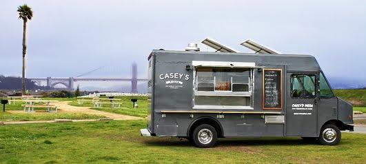 Caseys Pizza Truck The Brick Oven Inside Is Still Hot From Last Night